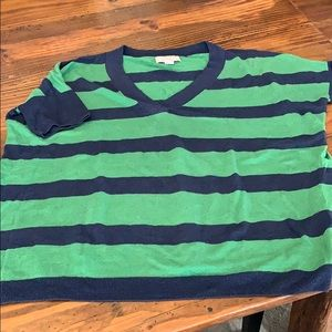 Banana Republic striped, short-sleeved sweater